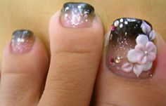 ideas for french pedicure designs summer simple Simple Toe Nails, Cute Toe Nails, Summer Toe Nails, Love Nails, Pretty Nails, Pretty Toes, Style Nails, Fancy Nails, Pedicure Nail Art