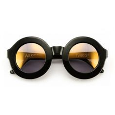 Wildfox Twiggy Deluxe Sunglasses (1.555 NOK) ❤ liked on Polyvore featuring accessories, eyewear, sunglasses, glasses, black, black round sunglasses, round sunglasses, mirror sunglasses, black lens sunglasses and black mirrored sunglasses