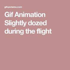 Gif Animation Slightly dozed during the flight