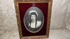 Antique Victorian lady portrait Gold Fancy Wood by FabulousFinds1, $74.50