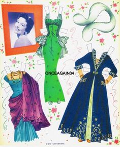 1956 Cyd Charisse paper doll clothes / eBay
