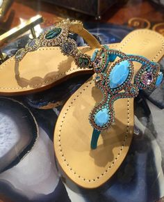 Palm Beach Sandals, Wedge Sandals, Leather Sandals, Mystique Sandals, Bridal Sandals, Jeweled Sandals, Types Of Women, Women's Feet, Contemporary Style