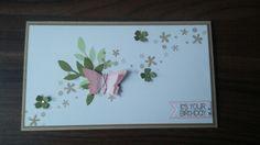 Frühlingshafte Geburtstagskarte   Stampin up, Zarter Zweig, Itty Bitty Stanze, Stempelset: Perpetual Birthday Calendar
