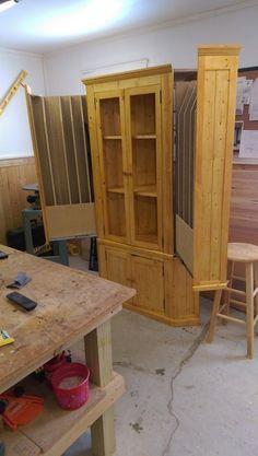 Corner cabinet with Hidden Gun storage