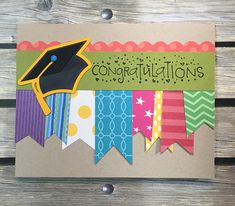 Handmade Graduation Greeting Card on Etsy Graduation Cards Handmade, Graduation Greetings, Graduation Diy, Greeting Cards Handmade, Cricut Cards, Stampin Up Cards, Scrapbook Cards, Scrapbooking, Unique Cards