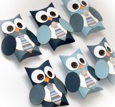 Set of 12 Owl Pillow Treat Boxes $14.99.