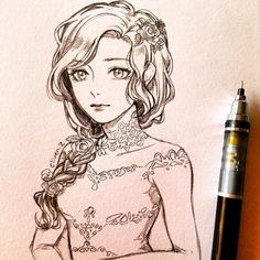 """WANT A FREE FEATURE ? CLICK LINK IN MY PROFILE !!! Tag #LADYTEREZIE Repost from @clivenzu """"Porcelain doll"""" I'm planning on reopening my store and doing commissions really soon #sketch #draw #doll via http://instagram.com/ladyterezie"""