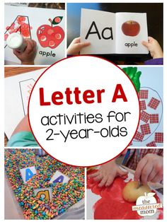Letter A with a 2-year-old