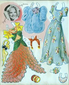 Sonja Henie Paper Dolls: Costumes for Skating, Dancing, & Everyday, 1940, Merrill #3492 (8 of 11)   Bobe Green   Picasa Webalbum
