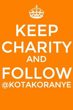 Keep Calm and follow us @kotakoranye