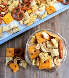 Classic snack mix gets a major upgrade with the addition of homemade ranch seasoning. Add this to your party menus, or pack it up for a great road trip snack!