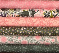 Once Upon a Time Fat Quarter Bundle of 6 by Yuko Hasegawa for RJR Fabrics - 1 LEFT. $14.25, via Etsy.