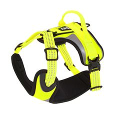 Perfect for those dark evening winter walks the Hurtta Dazzle Harness has to be one of the best High Vis Dog harnesses available. Made from fade resistant yellow material with extra reflective additions is only the tip of the iceberg for dog harness quality with this product. - See more at: