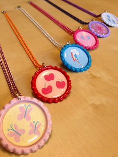 My Little Pony MLP Friendship is Magic Deluxe Necklace Colored Chain - SET (6) $45.00
