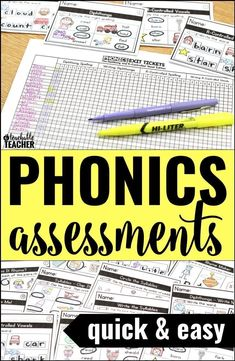 Phonics exit tickets are a quick and  seamless way to integrate informal  phonics assessment at the end of everyday whole group or small group  lessons. | teaching kindergarten reading | teaching tips | beginning  reading activities | 1st grade reading |