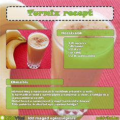 Egy finom banános turmix receptje. Kaja, Cantaloupe, Smoothies, Minden, Food And Drink, Fruit, Drinks, Recipes, Cakes