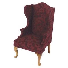 Dollhouse Miniature Elise Wing Chair