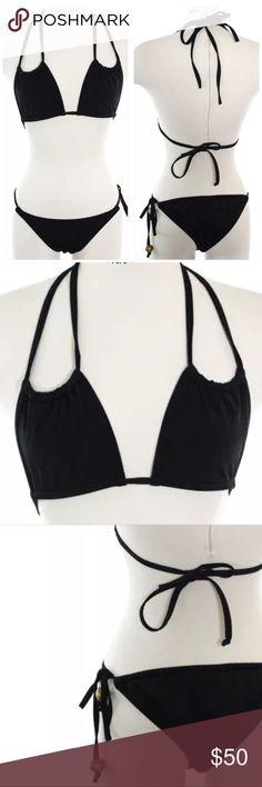 a709a95c87 Rare Black Bikini by designer Brette Sandler Sz M At 22 years old, native  New