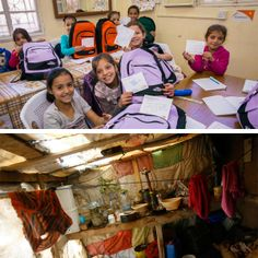 Thanks to donors like you, these #childrenofSyria are in school instead of bored and unhappy in shelters like this (below). #smileagain