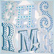 La Maison des Carrés Hermès   Carré 90 x 90 cm Hermès Electrique bleu