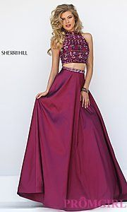 Buy Sherri Hill Two Piece Dress with Beaded Top at PromGirl