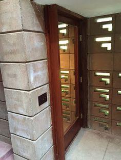 Interior of Entry Door - The Acres - Samuel Eppstein Residence / 11090 Hawthorne Dr, Galesburg, MI / 1948 / Usonian / Frank Lloyd Wright