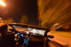 Driving a Convertible at Night Photo By Michael Kappel