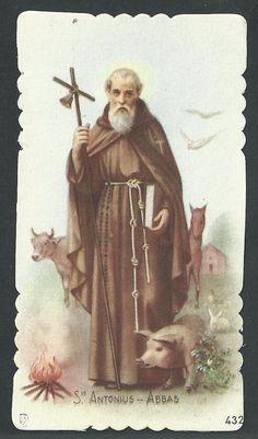 San Luis Gonzaga, San Antonio Abad, Lucky Star, Lord And Savior, Jesus Christ, Catholic, Saints, Traditional, Cards