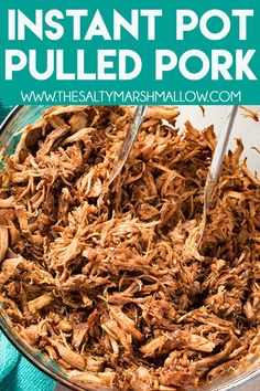 instant pot recipes Instant Pot Pulled Pork is seasoned to perfection, and mouthwateringly tender! Make this easy and super flavorful pulled pork using a pork loin roast and have your familys new favorite instant pot pork recipe on the table in an hour! Pulled Pork Instant Pot Recipe, Pulled Pork Recipes, Instant Pot Dinner Recipes, Shredded Pork Recipes, Instant Pot Pork Shoulder Recipe, Pulled Pork Sauce Recipe, Easy Pork Loin Recipes, Pork Sirloin Recipes, Easy Instapot Recipes