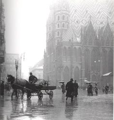 my-little-time-machine: 1913 Stephansdom, Vienna. Scenery Pictures, Old Pictures, Old Photos, Vintage Photographs, Vintage Photos, Street Photography, Nature Photography, Mozart, Vienna