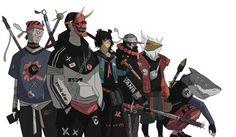 Oni Samurai, Urban Samurai, Manga Illustration, Character Illustration, Cyberpunk Kunst, Character Art, Character Design, Samurai Artwork, Dope Art