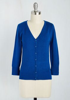 Charter School Cardigan in Royal Blue. Show your style smarts in this versatile cardigan! #blue #modcloth