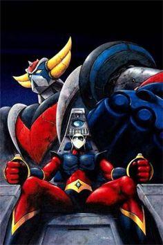 Duke Fleed and Ufo Robot Grendizer Comic Anime, Anime Comics, Comic Art, Mecha Anime, Japanese Robot, Japanese Art, Old Cartoons, Classic Cartoons, Robot Cartoon