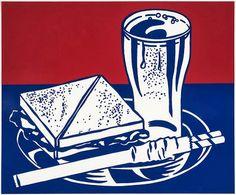 LICHTENSTEIN Roy (1923-1997), Sandwich and Soda, 1964, sérigraphie sur papier, 48,3x58,5 cm.