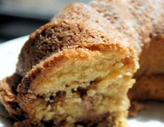 This was pretty rich. I think I'd do less sugar next time. It was super good though! Gluten-Free Sour Cream Coffee Cake