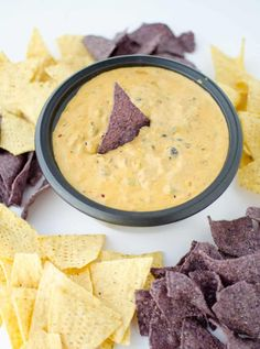 Vegan Chili Cheese Dip! Hands down the best cheese sauce I've ever tasted. Spicy and cheesy, this is a dip to win over even the biggest cheese dip fans.