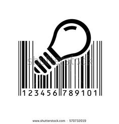 shutterstock.com Barcode Art, Barcode Design, Logo Design, Graphic Design, Twisted Humor, Light In The Dark, Doodle Ideas, Geometry, Printer