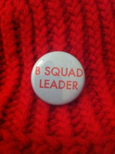 B SQUAD LEADER button - The Life Aquatic with Steve Zissou, Wes Anderson