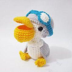 Penny the Pelican amigurumi crochet pattern by Sweet N' Cute Creations looks like the pellies in AC