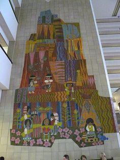 Contemporary Resort Mosaic Mural | For free Disney travel quotes, contact Amie@GatewayToMagic.com