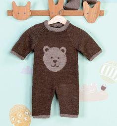 Modèle combinaison ours en laine bébé - Modèles Layette - Phildar