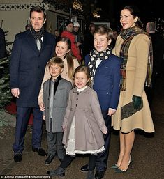 Australian-born Crown Princess Mary and her family earlier appeared excited to attend the ...