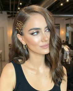 Lovely Formal Hairstyles You Should Try Bobby Pin Hairstyles, Formal Hairstyles, Pretty Hairstyles, Easy Hairstyles, Hairstyles 2016, Wedding Guest Hairstyles Long, Holiday Hairstyles, Blonde Makeup, Hair Makeup