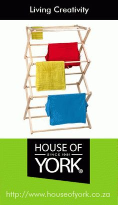 House of York's wooden clothes horse is available in their laundry range and is durable and of high quality.