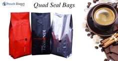 #Quadsealbags are a well known term used to refer to your #foursidedsealbags. Quad seal bags are only available in a #custom option thus we do no not have #stockcolours available