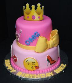 Emojis Cake by Cecy Huezo and Marina Lamb .  www.delightfulcakesbycecy.com