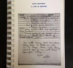 ruth whitman recipe book