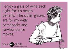 I enjoy a glass of wine each night...