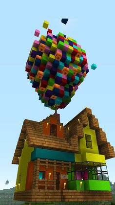 The house in the movie UP but only in Minecraft