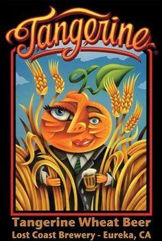 Tangerine Wheat Ale - Lost Coast Brewery  #Beer-Shark